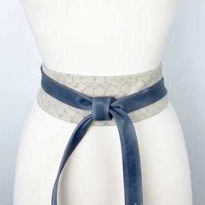 Anthropologie   ADA Gray Tortoise Combo Wrap Belt